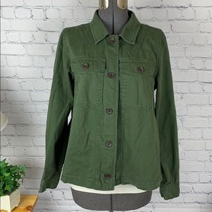 Old Navy Button Down Army Green Flannel Large